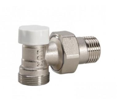 """Клапан регулирующий угловой 1/2"""" Luxor easy DS 132 для пластиковых труб"""