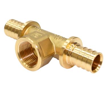 Купить STOUT Тройник с внутренней резьбой 32x1x32 для труб из сшитого полиэтилена аксиальный